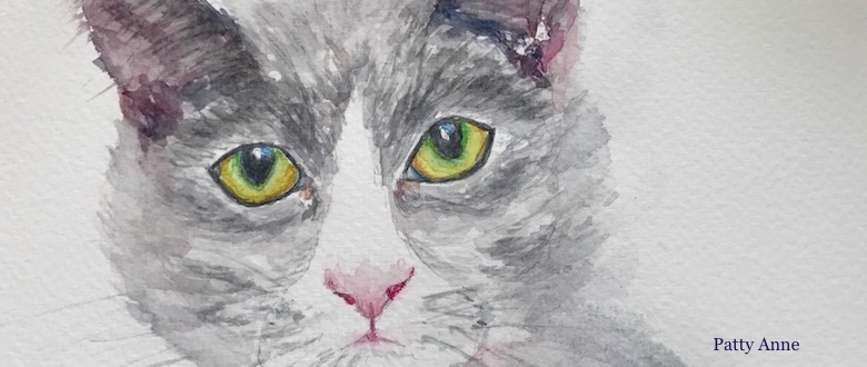 Watercolor Cats – Then & Now