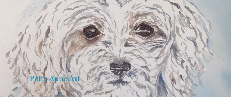 Cute Puppy – watercolor process