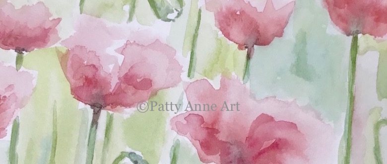 Field of Poppies in Watercolor