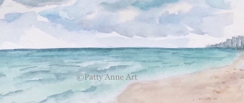 Beach watercolor