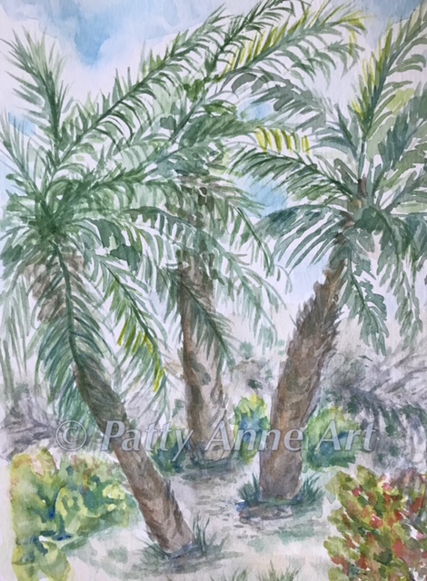 Palm Trees watercolor