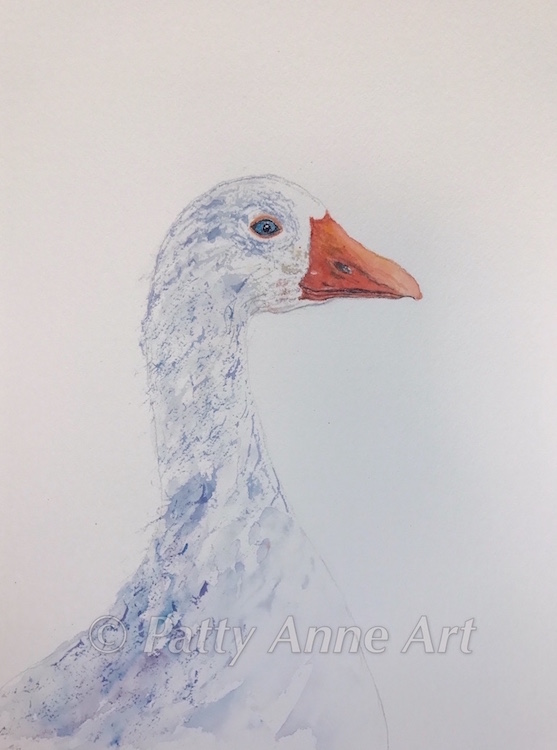 Goose watercolor without background