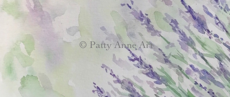Lavender watercolor