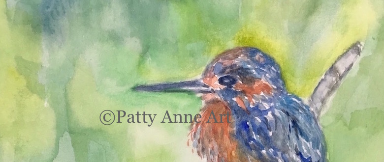 New website and birds in watercolor