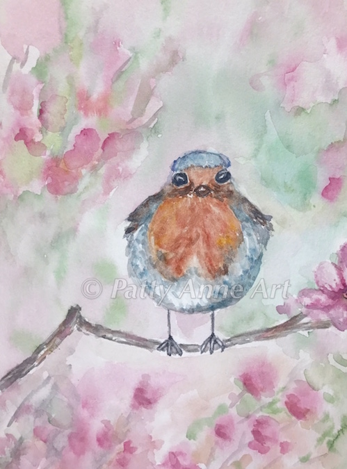 Sweet Bird watercolor