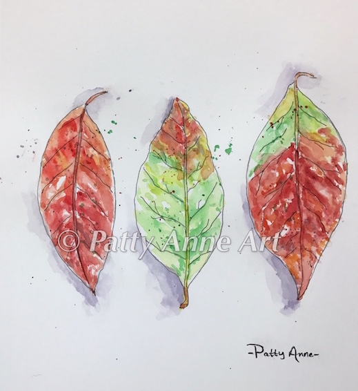 Colorful Leaves - Inktober