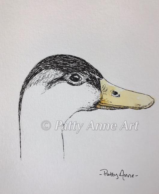 Duck - inktober