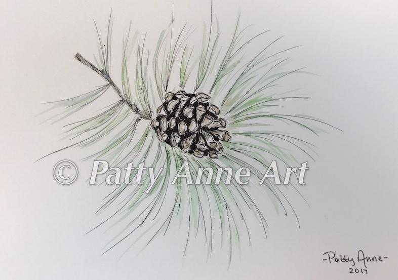 Pinecone - Inktober