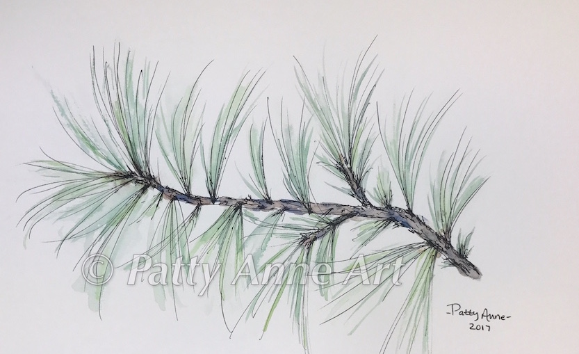 Simple Pine Branch
