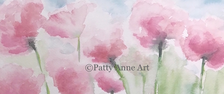 Pink Poppies - watercolor