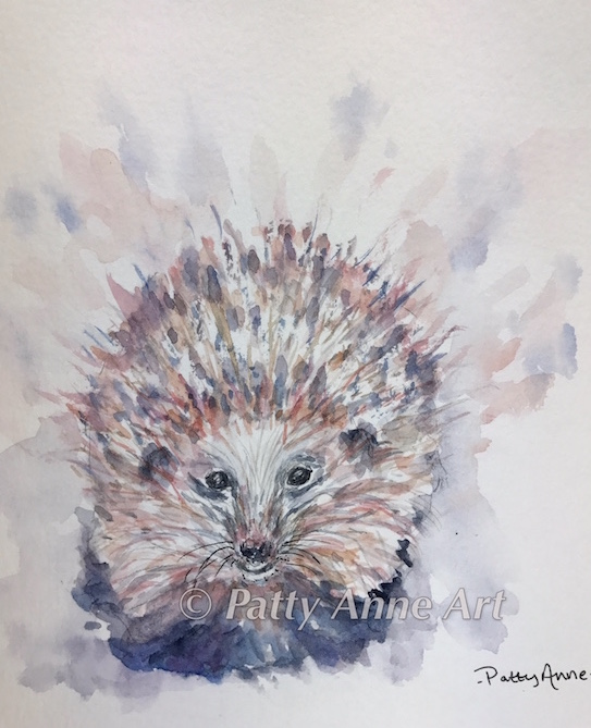 Hedgehog 2 watercolor