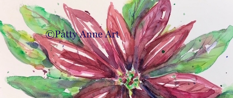 Poinsettia watercolor