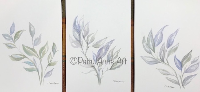 Leaves watercolor series