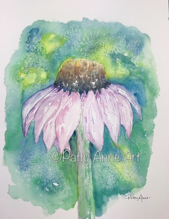 Coneflower painting