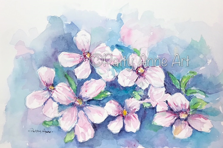 Pink Petals watercolor