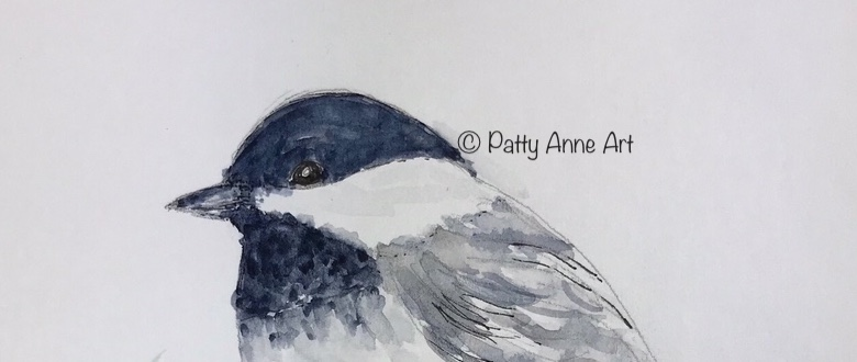 Chickadee painting