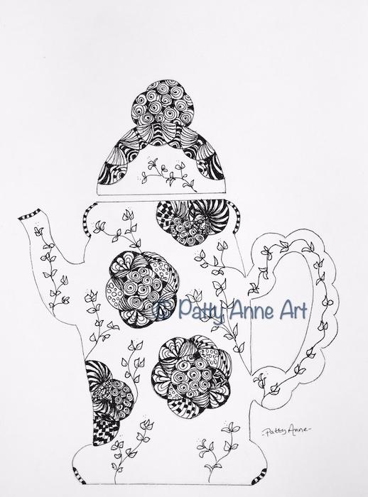 Teapot ink Doodle