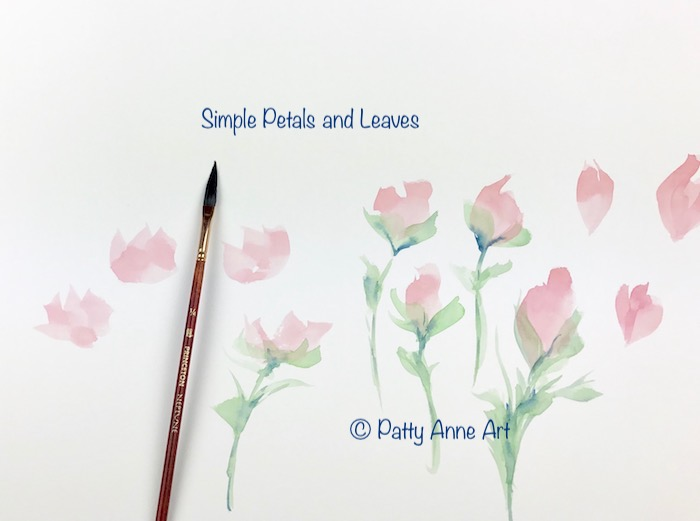 Simple petals and leaves