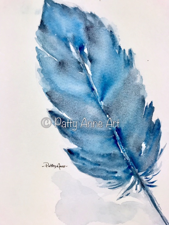 Blue Blue Feather