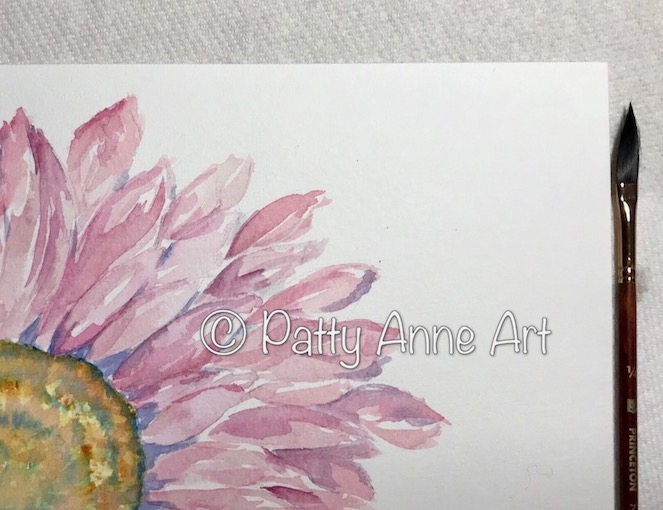 Pink Daisy in progress