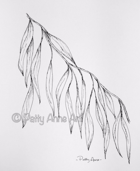 eucalyptus leaves ink