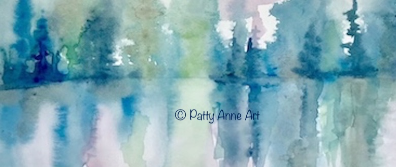 Quiet Thursday – watercolor reflection
