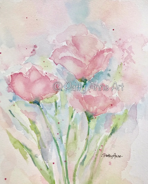 Soft pink poppies