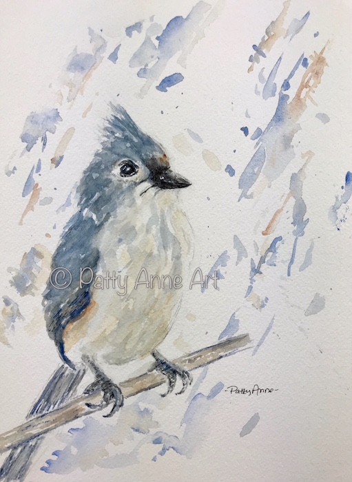 Tufted Titmouse watercolor