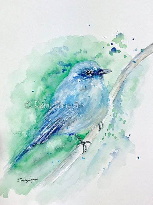 Bluebird watercolor