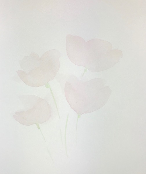 Transparent Watercolor Petals - Layer 1