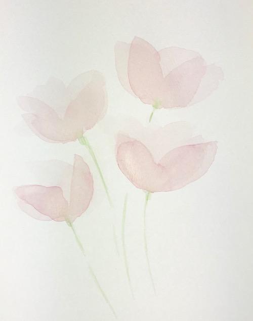 Transparent Watercolor Petals - Layer 2