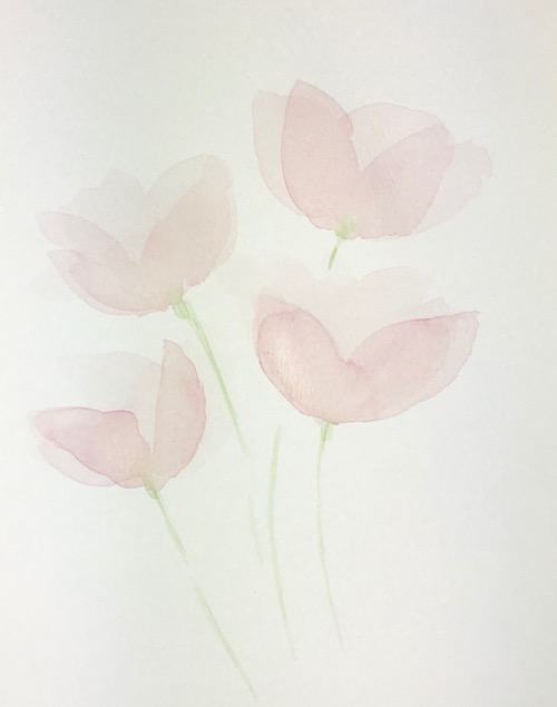Transparent Watercolor Petals - Layer 2
