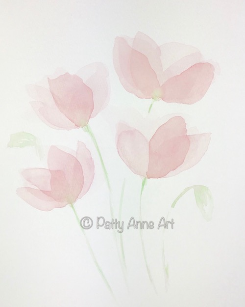 Transparent Watercolor Petals - Layer 3