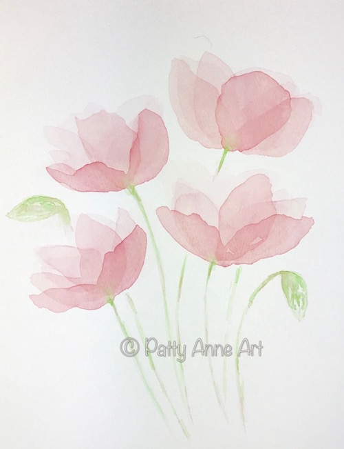 Transparent Watercolor Petals - Layer 4