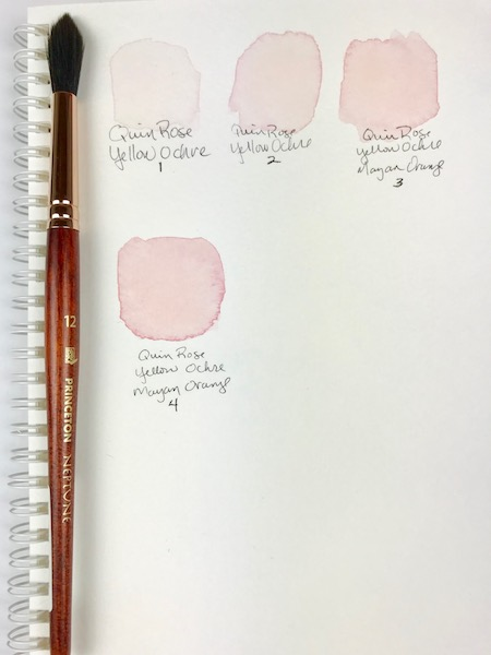 Pink Color mixing