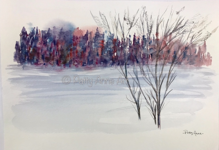 Chilly Cityscape watercolor