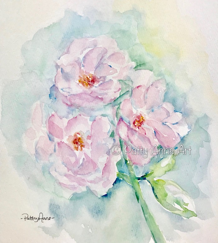 Pink Roses watercolor