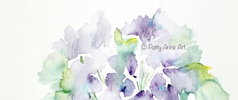 Quiet Thursday – watercolor violets