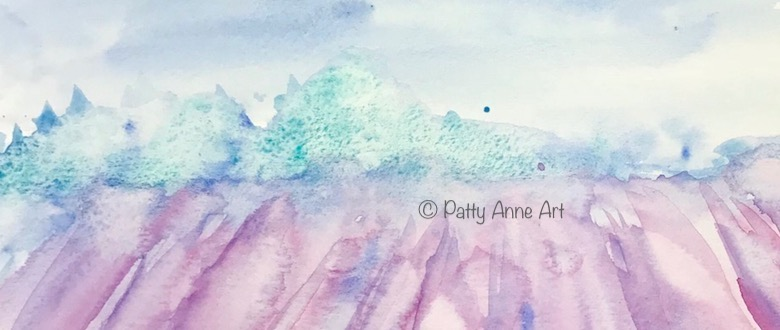 Lavender watercolor revisited