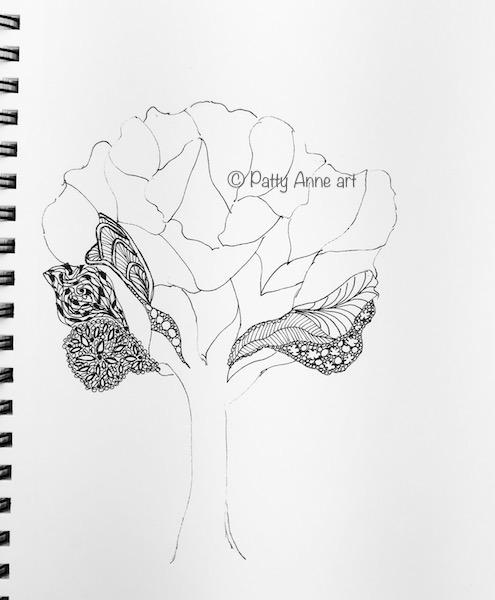 Tree ink doodle - s1