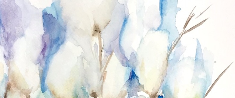 Quiet Thursday -abstract watercolor