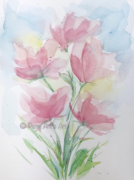 watercolor painting for bookmarks