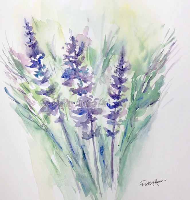 Lavender breeze watercolor