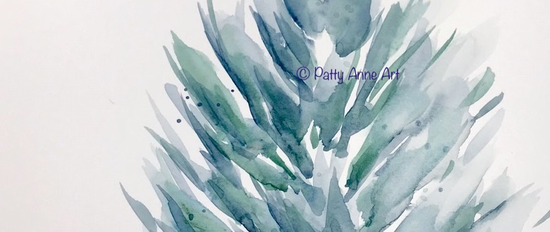 Watercolor practice – painting plants