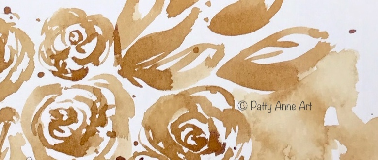 coffee painted roses