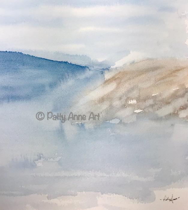 misty seashore
