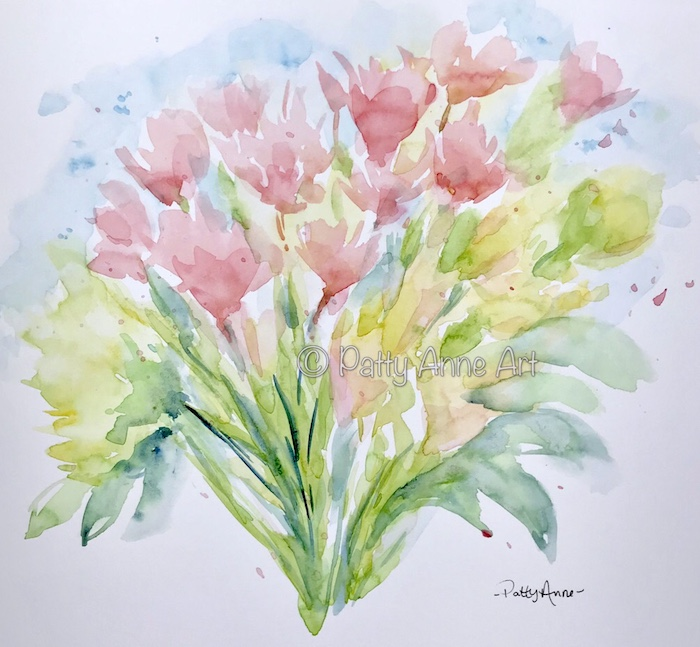 spring bouquet floral watercolor