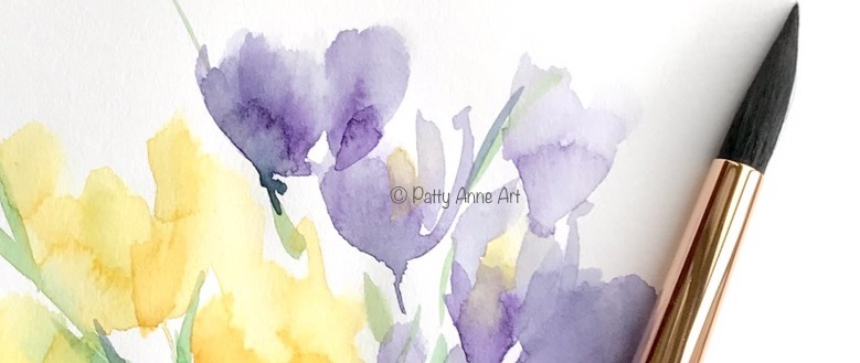 Painting Spring crocuses