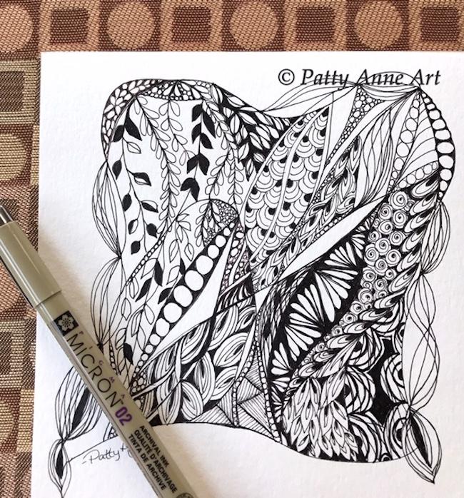 zentangle doodle ink sketch
