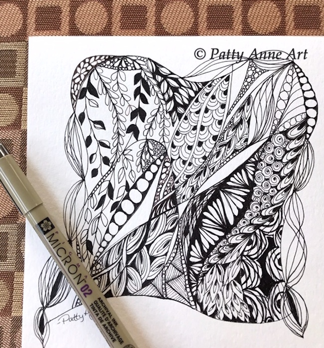 zentangle doodle ink sketch